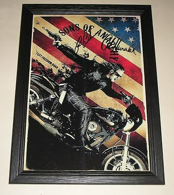 "Sons Of Anarchy Cast Pp Signed & Framed 12""x 8"" Poster"