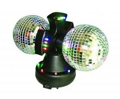 """4.5"""" Twin Mirror Rotating Disco Ball for DJ Party LED Light Lamp"""