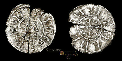 Very Rare Berhtwulf Deneheah Hammered Anglo Saxon Portrait Penny Coin 023865