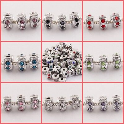 18KGP Clips Stopper Cutely Crystal European Spacer Beads Fit Charms Bracelet