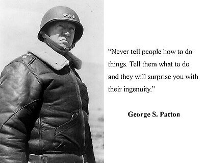 General George S. Patton World War 2 WWII Quote 8 x 10 Photo Picture #d2