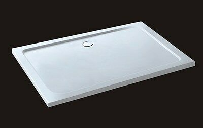 Aica 1100x900x40mm rectangle Walk in Shower enclosure Stone Tray Bathroom S5
