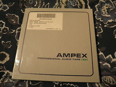"Ampex 631 Professional audio tape!!! Factory SEALED!!! 7"" reel!! Mint condition!"