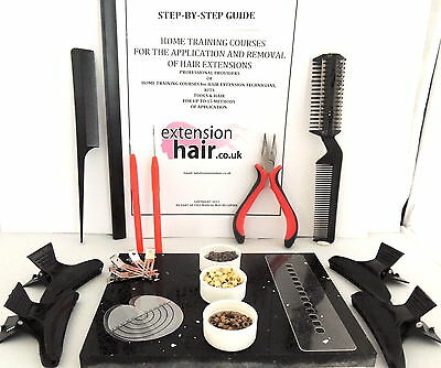 Hair extensions Micro Loop step by step home training kit