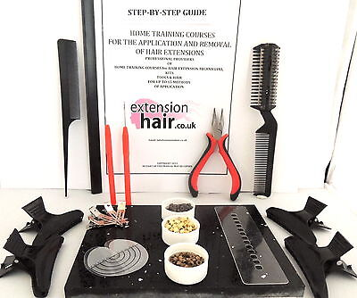 Hair extensions  Micro rings step by step home training, home kit training kit