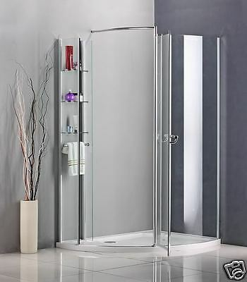 Walk In Shower Enclosure Pivot door Wet Room Cubicle Bathroom Glass Stone Tray A