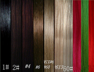 "HAIR EXTENSIONS 100% REMY REAL HUMAN HAIR 10pc 20""125g Full Head Sets BNWT"