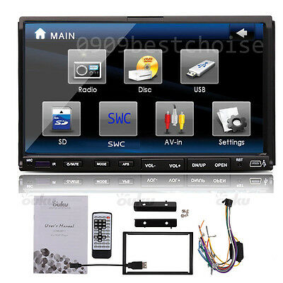 "7"" Car Stereo CD VCD DVD USB FM Player MP3 SD Double 2Din In-Dash Radio HD LCD Z"