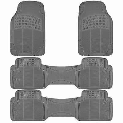 4PC ALL WEATHER GRAY RUBBER FLOOR MATS MT-9002+3GR for CHRYSLER TOWN & COUNTRY
