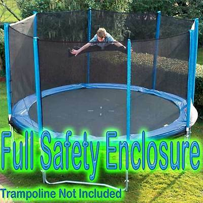 Round Trampoline Full Safety Enclosure All Sizes NEW