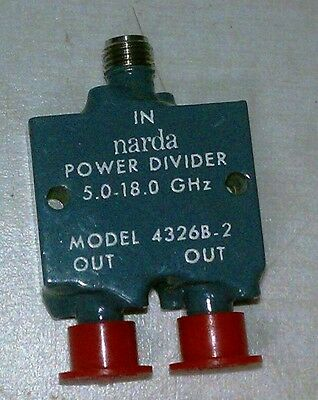 NARDA POWER DIVIDER  MODEL 4326B-2   (5.0 - 18.0 GHz)