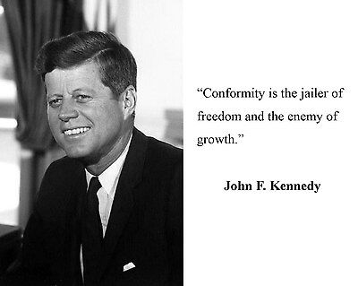 President John F. Kennedy JFK Quote 8 x 10 Photo Picture #bwd6