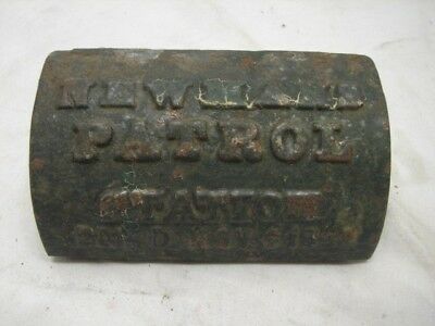 Antique Cast Iron Watchman's Key Lock Box Newman's Patrol Station 1900 Patent