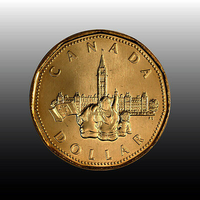 Canada 1992 Loonie MINT UNCIRCULATED PARLIAMENT COMMEMORATIVE SCARCE