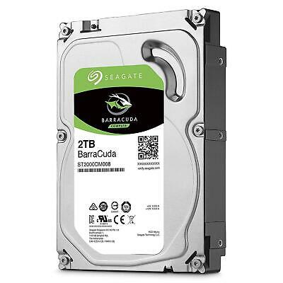 "Seagate BarraCuda 2TB 7200RPM 256MB 3.5"" SATA Internal Desktop Hard Drive HDD"