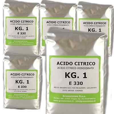 Acido Citrico Kg. 5 In Conf. Da 1 - E330 - Monoidrato - Europeo