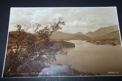 Old Postcard Of Killarney The Upper Lake