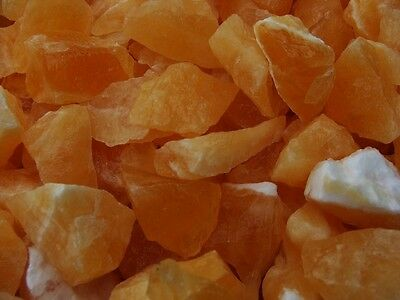 500 Carat Lots of Unsearched Natural Orange Calcite Rough + A FREE Faceted Gem