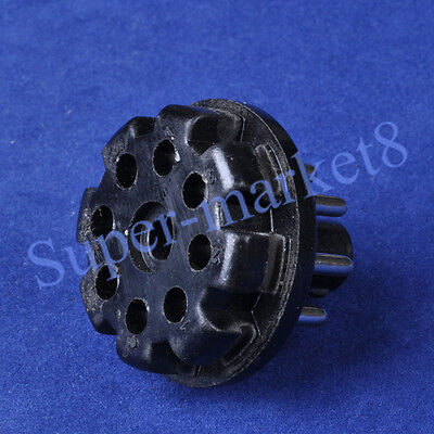 2pcs 8Pin Bakelite Octal Pin Plug Base For Tube Test Power Supply Cable