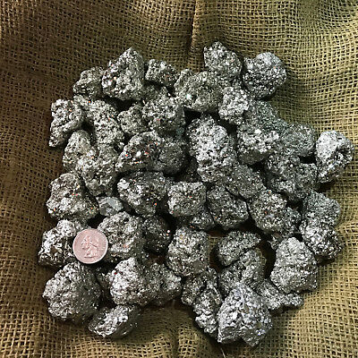 1000 Carat Lots of Unsearched Natural Pyrite Rough + a FREE Faceted Gemstone