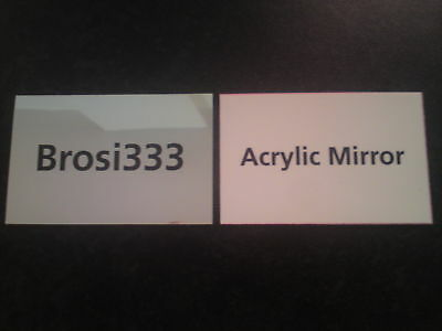 ACRYLIC SAFETY MIRROR SHEET 55x85mm credit card size
