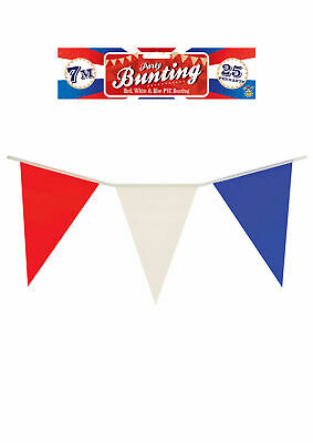 French France Coloured Flag Bunting Red White Blue Coloured 7 meters Olympics