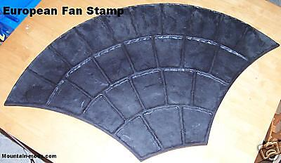 4 European Fan Decorative Concrete Cement Plaster Imprint texture Stamp Mats New