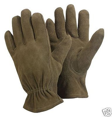Briers Washable Leather Olive Brown Garden Gardening Gloves
