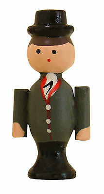 NEW Cuckoo Clock Novelty Wood Boy with Top Hat  - Made in Germany (CC-206)