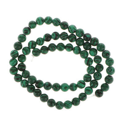 6mm RARE Green Banded Malachite Gem Stone Cabochon Gemstone Beads 15.5 inch New