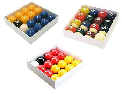 """Standard Size 2"""" Balls With 1-7/8"""" White Ball Sets For English Pool Tables"""