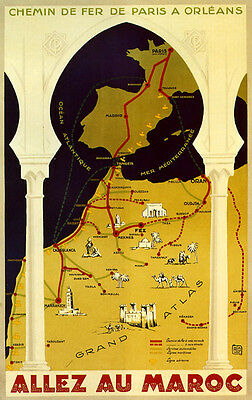 SEE Batavia Java from Singapore Map Travel Tourism Vintage Poster Repro FREE S//H