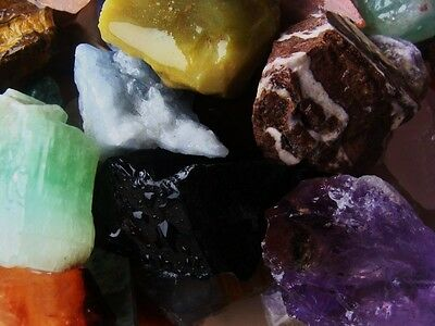 1000 Carat Lots of Natural Tumble Rough + a Very Nice FREE Faceted Gemstone