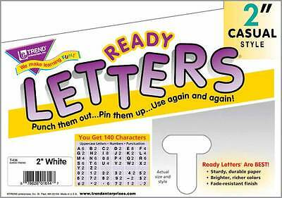 140 School Classroom display board Trend Ready Letters White 2""