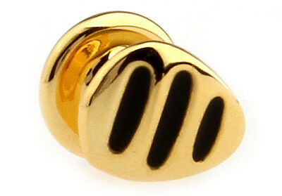 Men's Unique Black & Gold Stud Suit Cufflinks