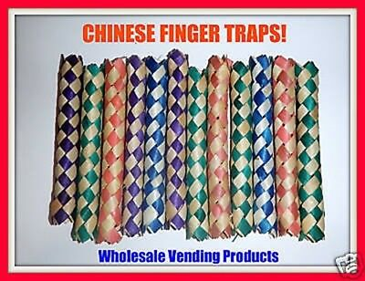 144 Chinese Bamboo Finger Traps Party Favors Arcade Fun