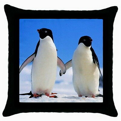 PENGUIN Throw Pillow Case Black for Living Bed Room Fashion Gifts HOT NEW