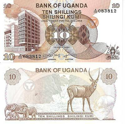 UGANDA 10 Shillings Banknote World UNC Currency Money BILL Africa Note p11 1979