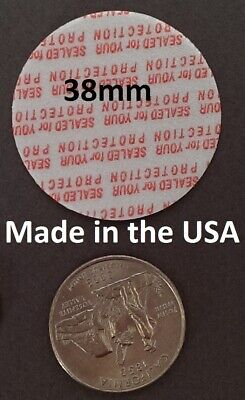38mm USA size ~ Press & Seal Cap Liners ~ Foam Safety Tamper Seals Made in USA