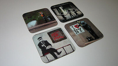 Banksy Street Art Graffiti COASTER Set #3