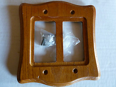 2 Gang Toggle Stained Solid Wood Oak Switch Plate Cover Double GFI Outlet  New