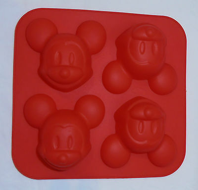 Silicone Baking Mould - Mickey Mouse - Party or Lunchbox Treats - Brand New