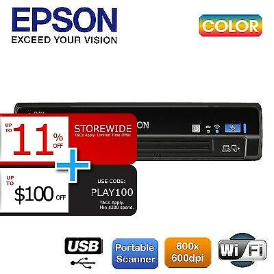 Epson WorkForce DS40 Portable USB/Wi-Fi Scanner replace DS30 1200dpi B11B225501