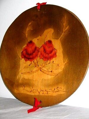 Wooden Poker Work Doyleys Press or Holder Aussie Waratah Flowers on Front 30cm