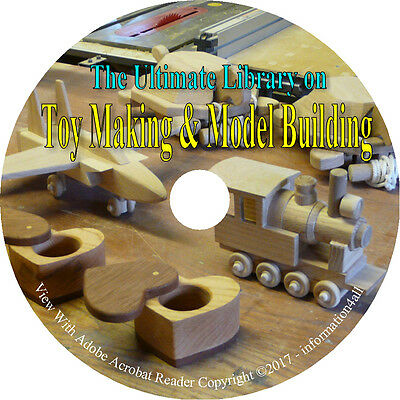 Toy & Model Making, Handcrafted, Home-made, Woodwork, How to Build - Books on CD