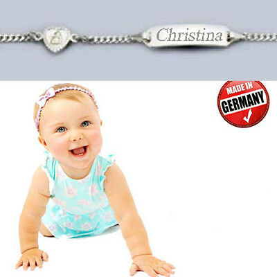 Baby Taufarmband Mit Engel, Silber 925,made In Germany,inkl.gravur