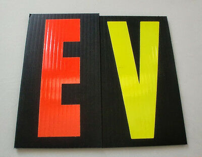 220-8 inch Black Sign Fluorescent Letters - 2 Sets of 110 YELLOW & RED Letters