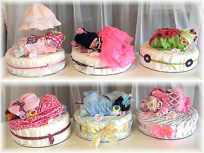 "Baby Shower Girl Diaper Baby & Cake Custom ""YOU PICK"" Name/Theme/Colors"