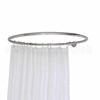 Round Shower Curtain Rail Chrome - One Wall Stay