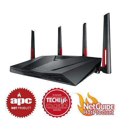 Asus RT-AC88U AC3100 3100Mbps Dual Band WiFi Wireless MU-MIMO Gigabit Router